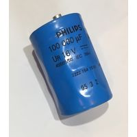 Конденсатор 100000 uF  16 V  / PHILIPS Электролитический конденсатор 100000 мКф  16 В