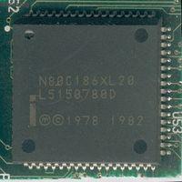 N80C186XL20  (20MHz, корпус PLCC-68) - 16-бит ретро-процессор