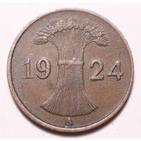 Германия 1 пфенниг - 7 шт.(А) 1924, 1925, 1930, 1931, 1933, 1934, 1936 года