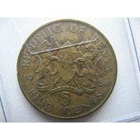 Кения 5 центов 1984 г.