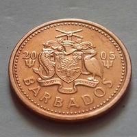 1 цент, Барбадос 2005 г., AU