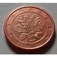 1 евроцент, Германия 2007 D