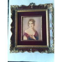 Картина на кости.Полина Бонопарт.Самая любимая сестра Наполеона.