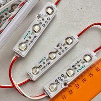 КРАСНЫЕ ((цена за 3 шт)) 5050 светодиодный модули 0,72 Вт. 3 светодиода. 12 Вольт. Аналог светодиодной ленты
