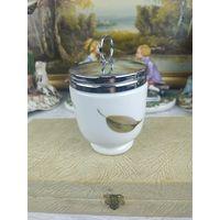 Кодлер на два яйца Royal Warchester, фарфор, английская посуда, фарфоровая посуда, Англия, подарок