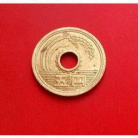 44-10 Япония, 5 йен 1988 г. Единственное предложение монеты данного года на АУ