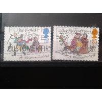 Англия 1993 Рождество, иллюстрация произведений Ч. Диккенса