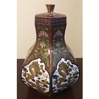 Китайская вазочка клуазоне 2-я пол. XX века