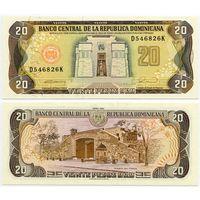 Доминиканская Республика. 20 песо (образца 1990 года, P133, UNC)