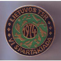 VI спартакиада. Литовская ССР, 1974 г. Большой знак