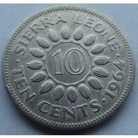 Сьерра Леоне. 10 центов 1964