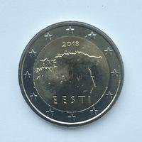 2 евро 2018 Эстония UNC из ролла (тираж всего 500.000)