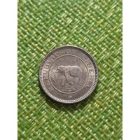 Либерия 1/2 цента 1937 г (  слон , пальма , корабль )