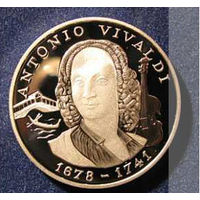 АНДОРРА 10 динер динар 1997 Вивальди СЕРЕБРО ПРУФ АЦ UNC