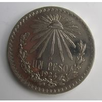 Мексика. 1 песо 1924 серебро.  10Е-34