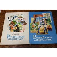Русский язык в картинках. И.В. Баранников, Л.А. Варковицкая. 2 книги, 1987 г.и.