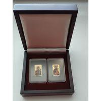 Футляр для монет НБ РБ Икона Пресвятой Богородицы с ложементом на 2 ячейки деревянный