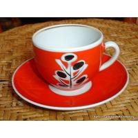 Чашка с блюдцем кофейно-чайная 50-60 гг