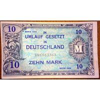 10 марок 1944г. амер. оккупация -F-