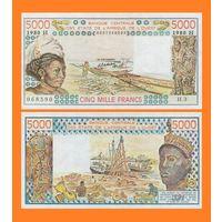 [КОПИЯ] Западно Африканские Штаты / Нигер 5000 франков 1980 г.