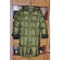 Пальто пуховик на девочку 10-14 лет.