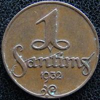 YS: Латвия, 1 сантим 1932, KM# 1