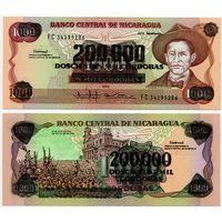 Никарагуа. 200 000 на 1000 кордоба (образца 1990 года, P162, UNC)