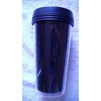 Кружка термическая, тёмная без ручки. распродажа