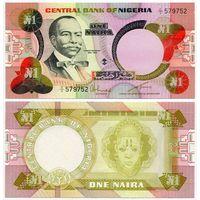 Нигерия. 1 найра (образца 1984 года, P23a, UNC)
