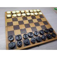 Советский набор шахматы шашки. AUSMA, Латвия.