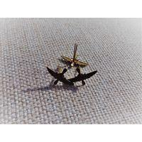 Эмблемы техника ВВС полевые биметалл обр. 1958 г., цена за пару