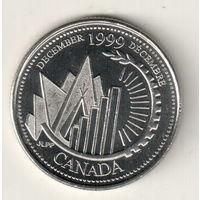 Канада 25 цент 1999 Декабрь