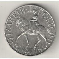 Великобритания 25 пенс 1977 Серебряный юбилей царствования Елизаветы 2