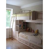 Кровать-чердак, кровать, шкаф, стол, полка для детской