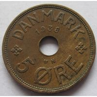 Дания 5 эре 1938
