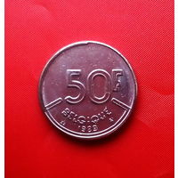 90-15 Бельгия, 50 франков 1989 г. Французский тип