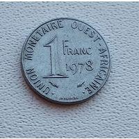 Западная Африка 1 франк, 1978  7-6-29