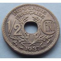 Французский Индокитай. 1/2 цента 1937. Много лотов в продаже.