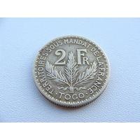 """Того """"Французское"""" 2 франка 1924 год  KM#3"""