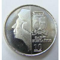 О.Синт-Эстатиус 10 центов 2013 г