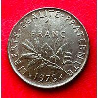 04-10 Франция, 1 франк 1976 г.