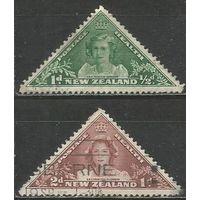 Новая Зеландия. Принцессы Маргарита и Елизавета. 1943г. Mi#275-76. Серия.