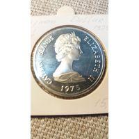 Каймановы острова  доллар 1975 серебро