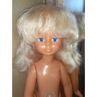 Очень красивая кукла с ярко голубыми глазами времён СССР 70 см в родной одежде и обуви