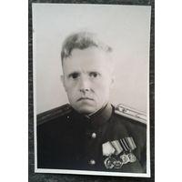 Фото. Военный с орденами и медалями. Орден Ленина. 6,5 х 9,5 см