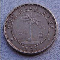 """Либерия. 1/2 цента 1937 год  KM#10  """"Слон"""""""