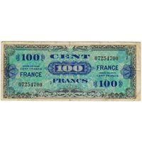 Франция. 100 франков  1944 года
