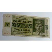 Чехословакия Богемия и Моравия 10 крон 1944 года Р1-9 Снижение цены.