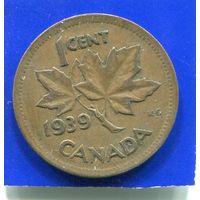 Канада 1 цент 1939