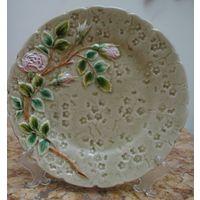 Декоративная тарелка Нежный Шиповник, начало 20 в. Австрия